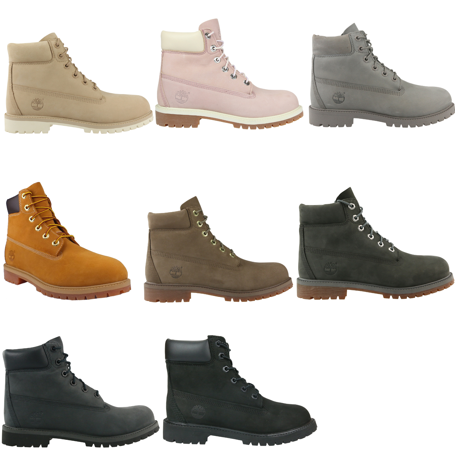 timberland 6 inch junior classic waterproof boot schuhe winterstiefel braun rosa ebay. Black Bedroom Furniture Sets. Home Design Ideas