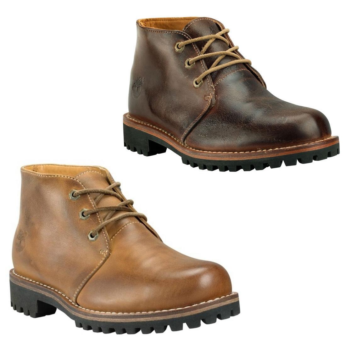 Timberland-Men-s-EK-Heritage-Rugged-WP-Chukka-Schuhe-Stiefel-Boots-Herren-Braun