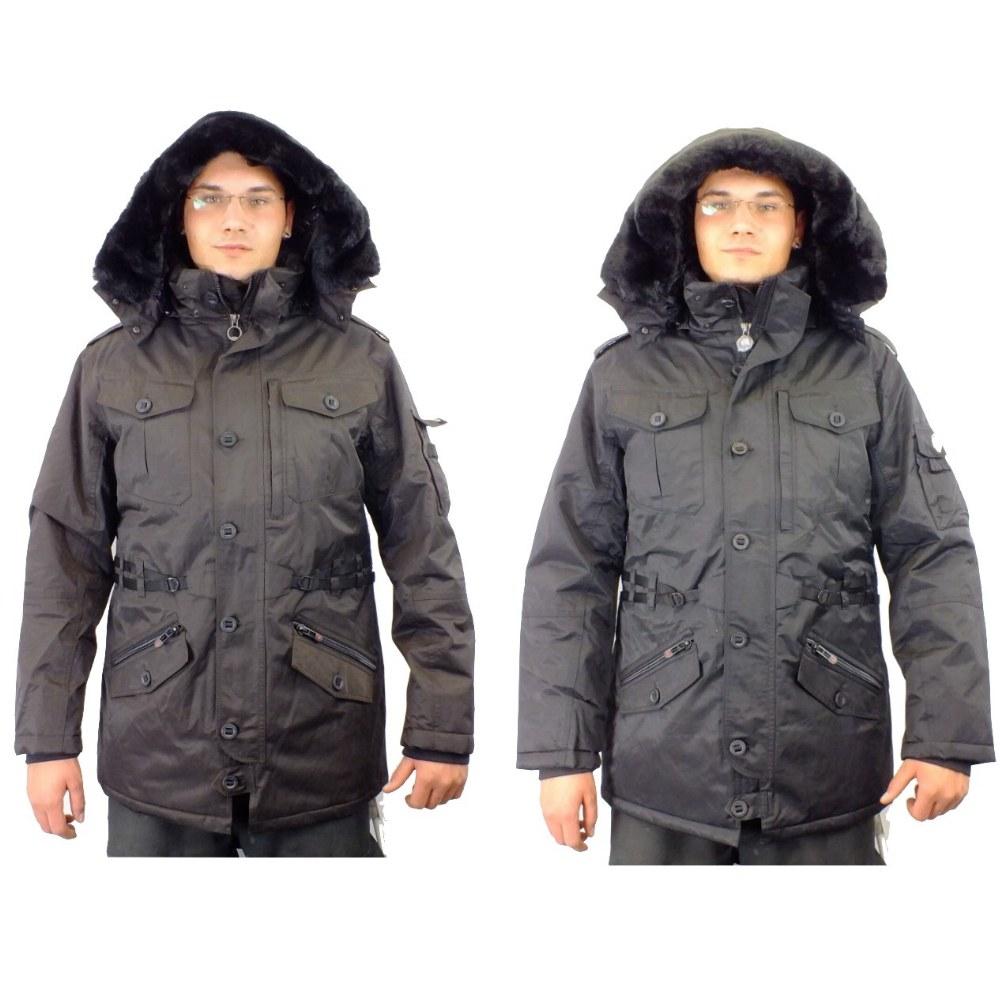 Winterjacke schwarz braun