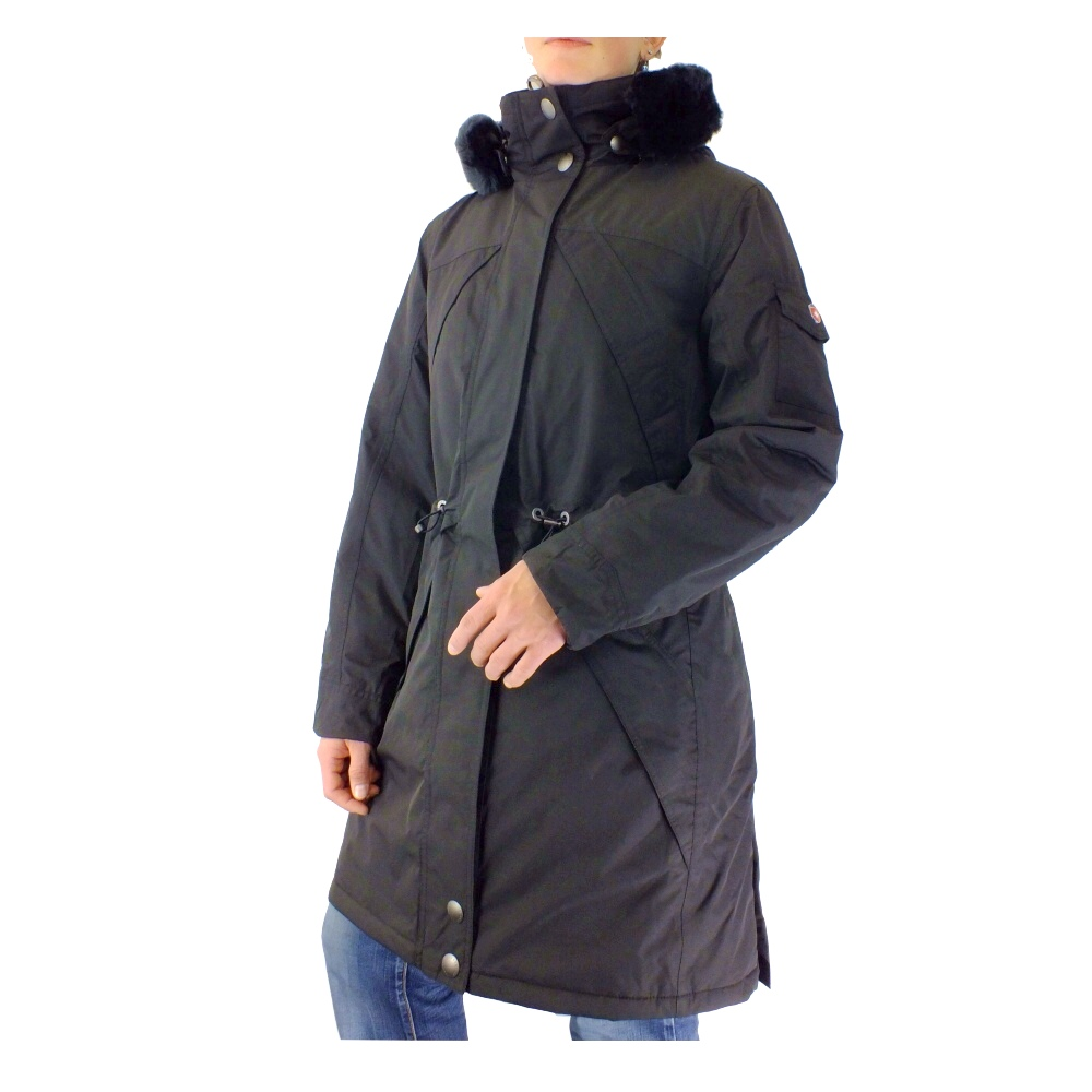 wellensteyn sneeparka jacke mantel winterparka outdoor damen schwarz braun ebay. Black Bedroom Furniture Sets. Home Design Ideas
