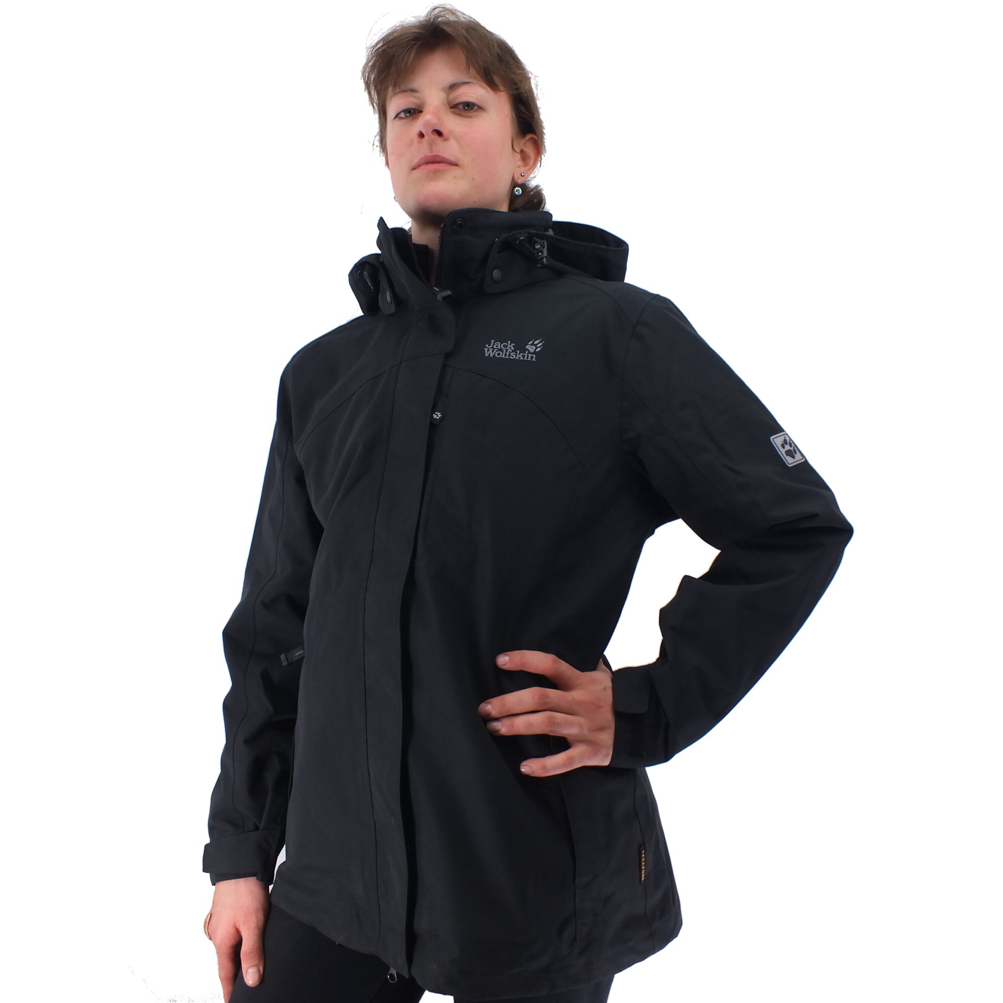 jack wolfskin majestic bay jacke winterjacke damen schwarz texapore ebay. Black Bedroom Furniture Sets. Home Design Ideas
