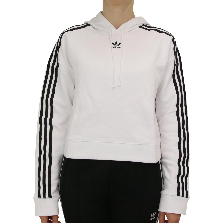 Details zu Adidas Originals Cropped Hoodie kurzer Schntt Kapuzenpulli Damen DX2321 Weiß