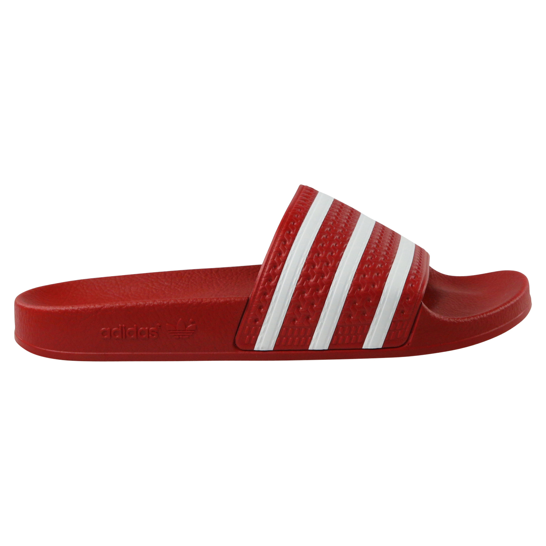 Adidas Adilette Badelatschen Badeschuhe Sandalen Schuhe scarlett white 288193