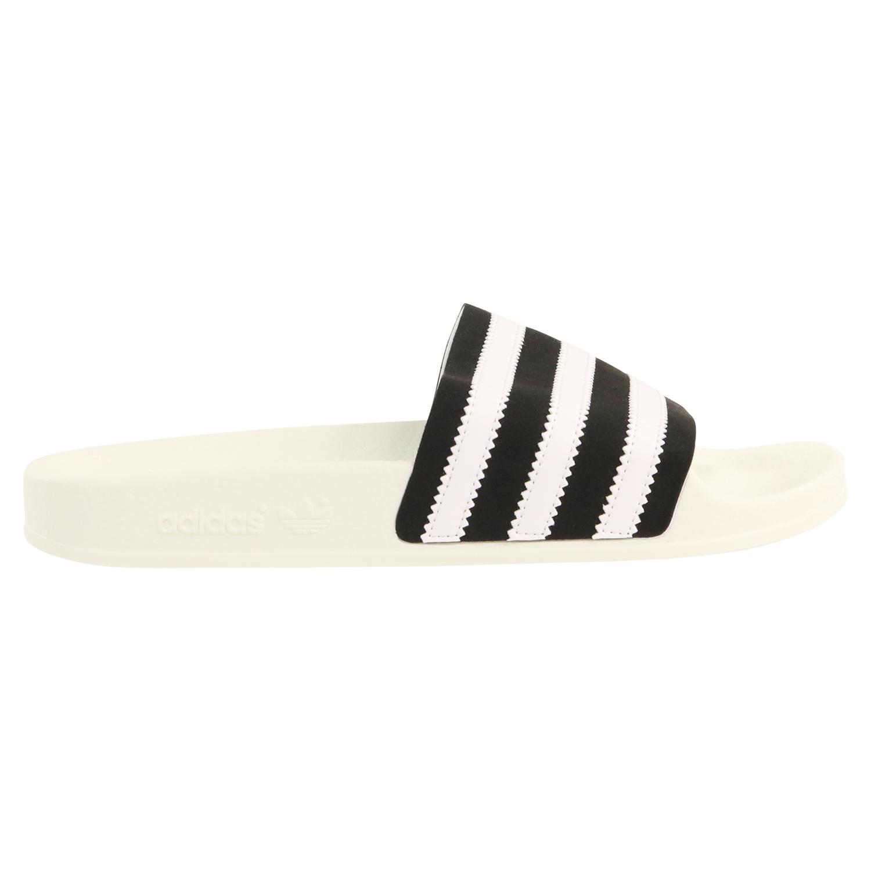 Adidas Adilette Slides Damen Hausschuhe WeißSchwarz