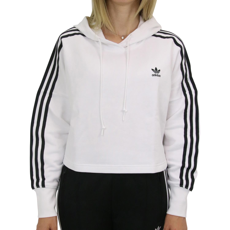 adidas Originals Cropped Hoodie Kapuzenpullover Lila Damen