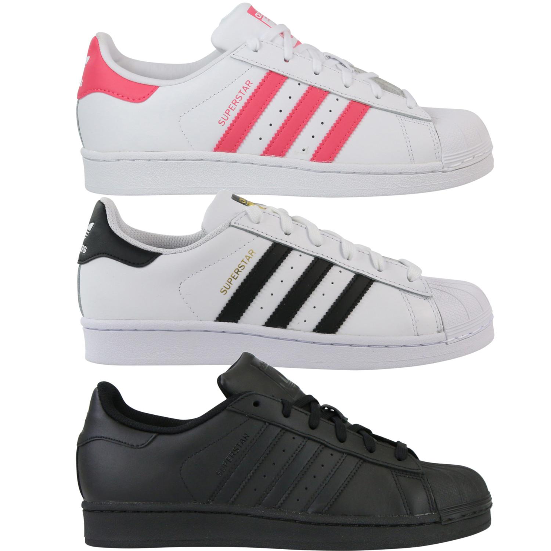 Details zu Adidas Originals Sneaker Damen SUPERSTAR J CG6609 Weiss Rot