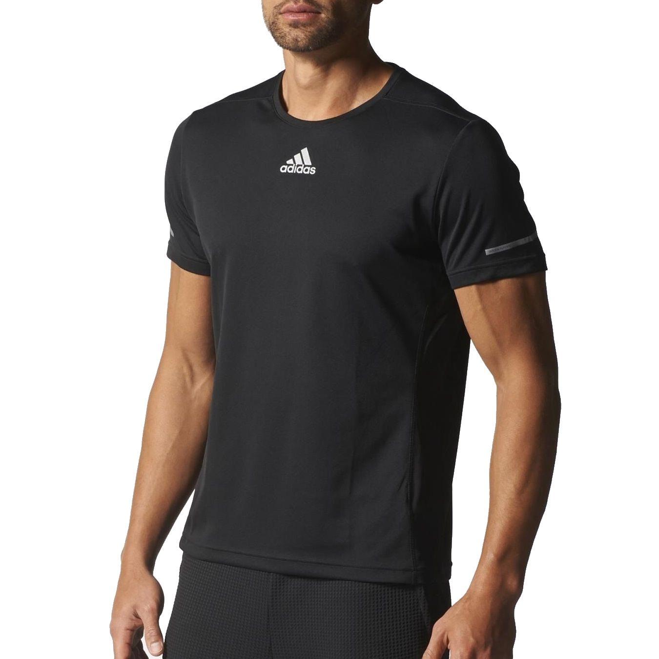 adidas laufshirt kurzarm langarm running fitnessshirt. Black Bedroom Furniture Sets. Home Design Ideas
