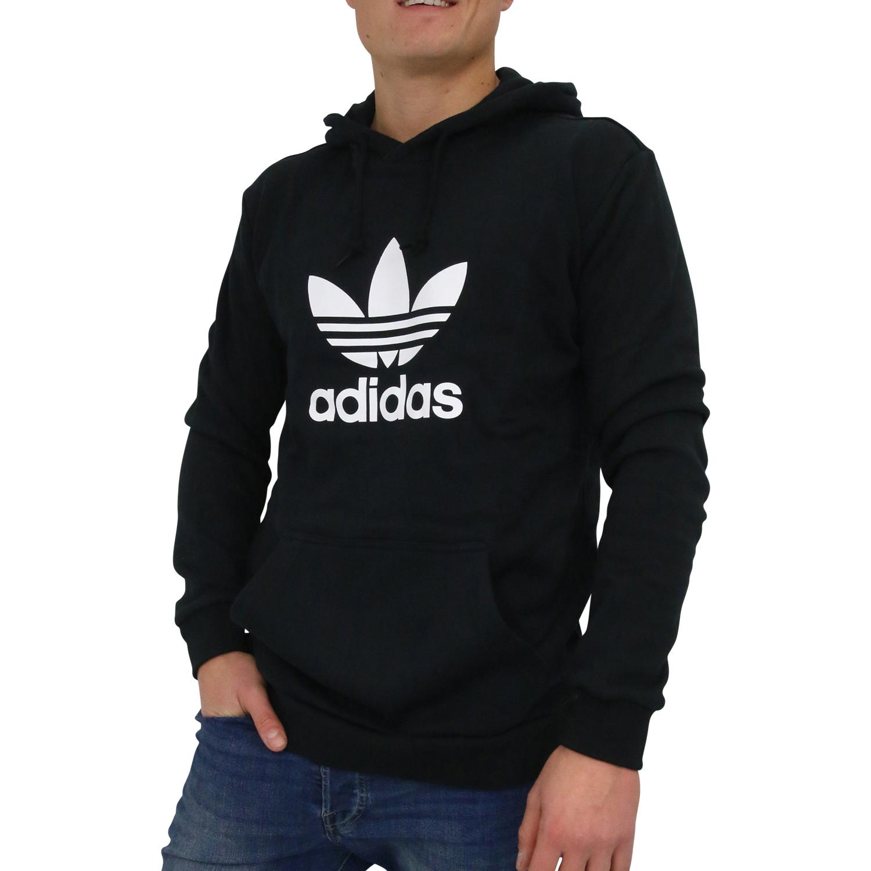 Details zu adidas Originals Trefoil Hoodie Kapuzenpullover Pulli Herren Schwarz DT7964