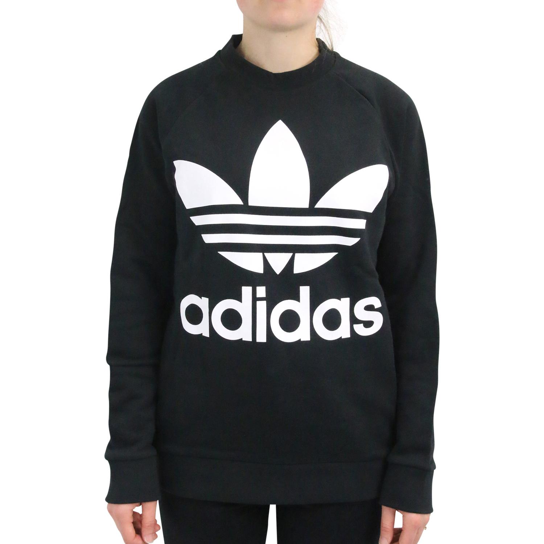 c3338de29be58e adidas Originals Trefoil Oversize Sweatshirt Pullover Damen Schwarz ...