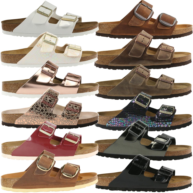 Détails sur BIRKENSTOCK Arizona Chaussures Sandales Chaussons Femmes Étroit et normal afficher le titre d'origine