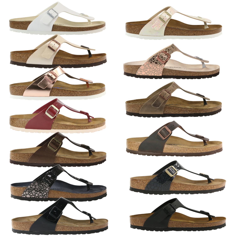 Details zu Birkenstock Gizeh Schuhe Sandalen Zehentrenner Damen schmal und normal