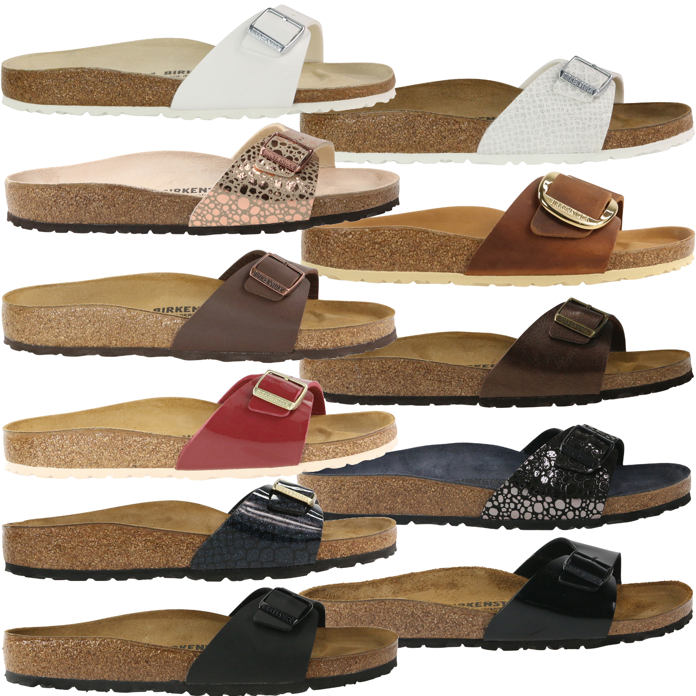 wholesale dealer 0464b f9a66 Details zu Birkenstock Madrid Schuhe Sandalen Pantoletten Damen schmal und  normal