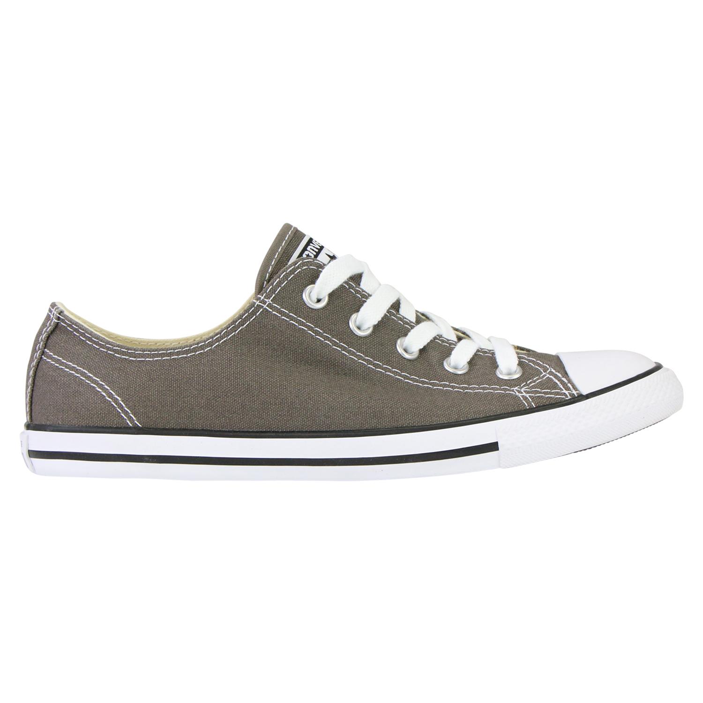 Details zu Converse Chucks All Star Dainty Ox 532353C Tex Charcoal Canvas Schuhe Damen Grau