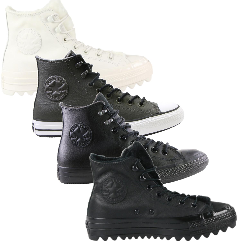 Dettagli su Converse Chuck Taylor All Star Scarpe In Pelle Sneaker Scarpe Invernali Uomo Donna mostra il titolo originale