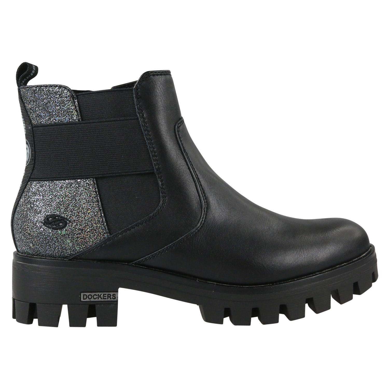 free shipping f1d90 15107 Details zu Dockers Chelsea Boots Stiefeletten Stiefel Winter Damen Schwarz  43FY201 610 100