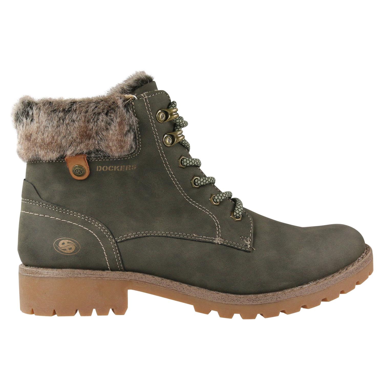 huge discount 6f3fb 7a5b3 Details zu Dockers Stiefeletten Winterschuhe Stiefel Chelsea Boots Schuhe  Gefüttert Damen