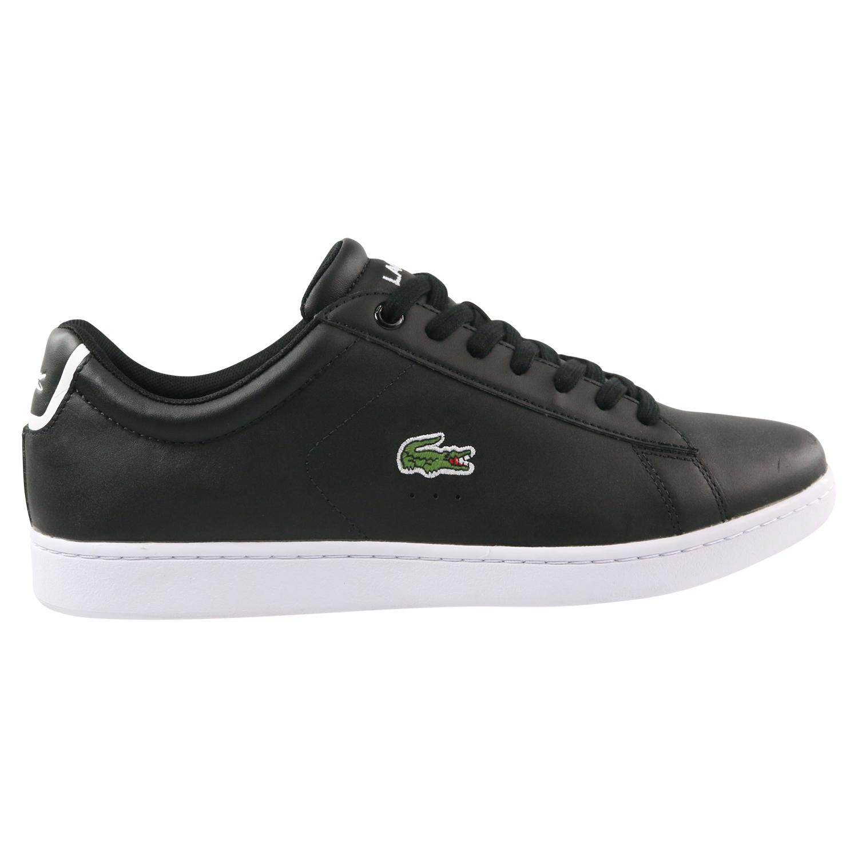 Details Leder Zu Sneaker Schuhe 024 Herren 33spm1002 Lacoste Carnaby Evo 118 Schwarz 0wOP8kXNn