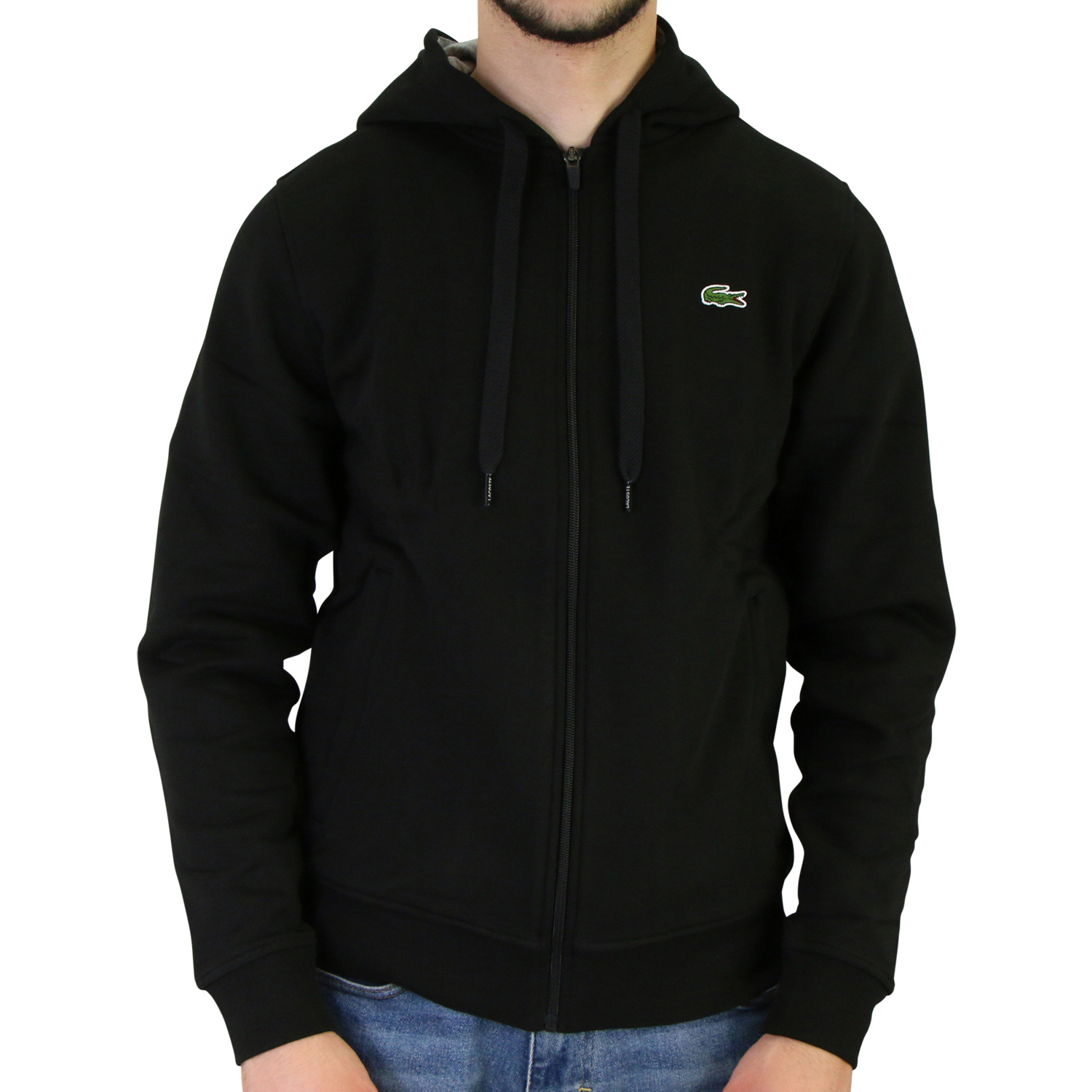 lacoste kapuzen sweatshirt jacke kapuzenjacke hoodie. Black Bedroom Furniture Sets. Home Design Ideas