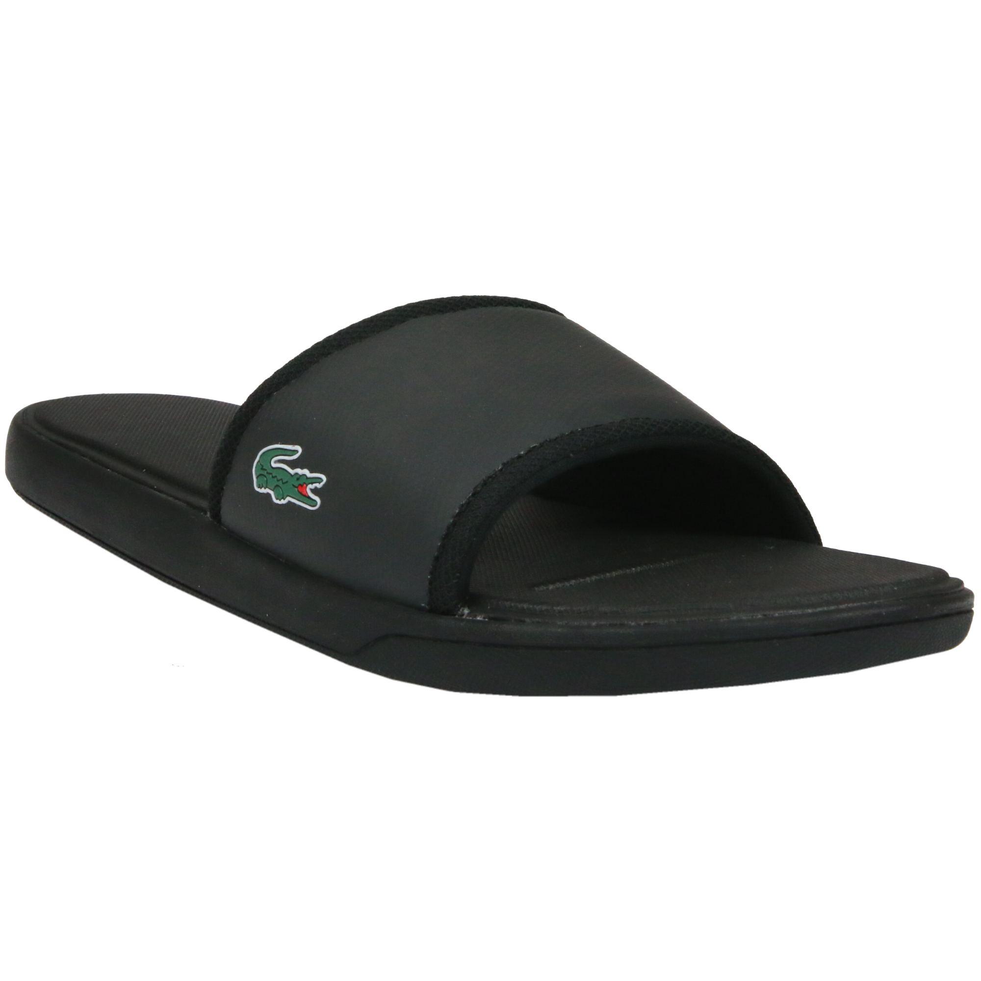 lacoste l30 sport slide sandal badeschuhe badelatschen. Black Bedroom Furniture Sets. Home Design Ideas