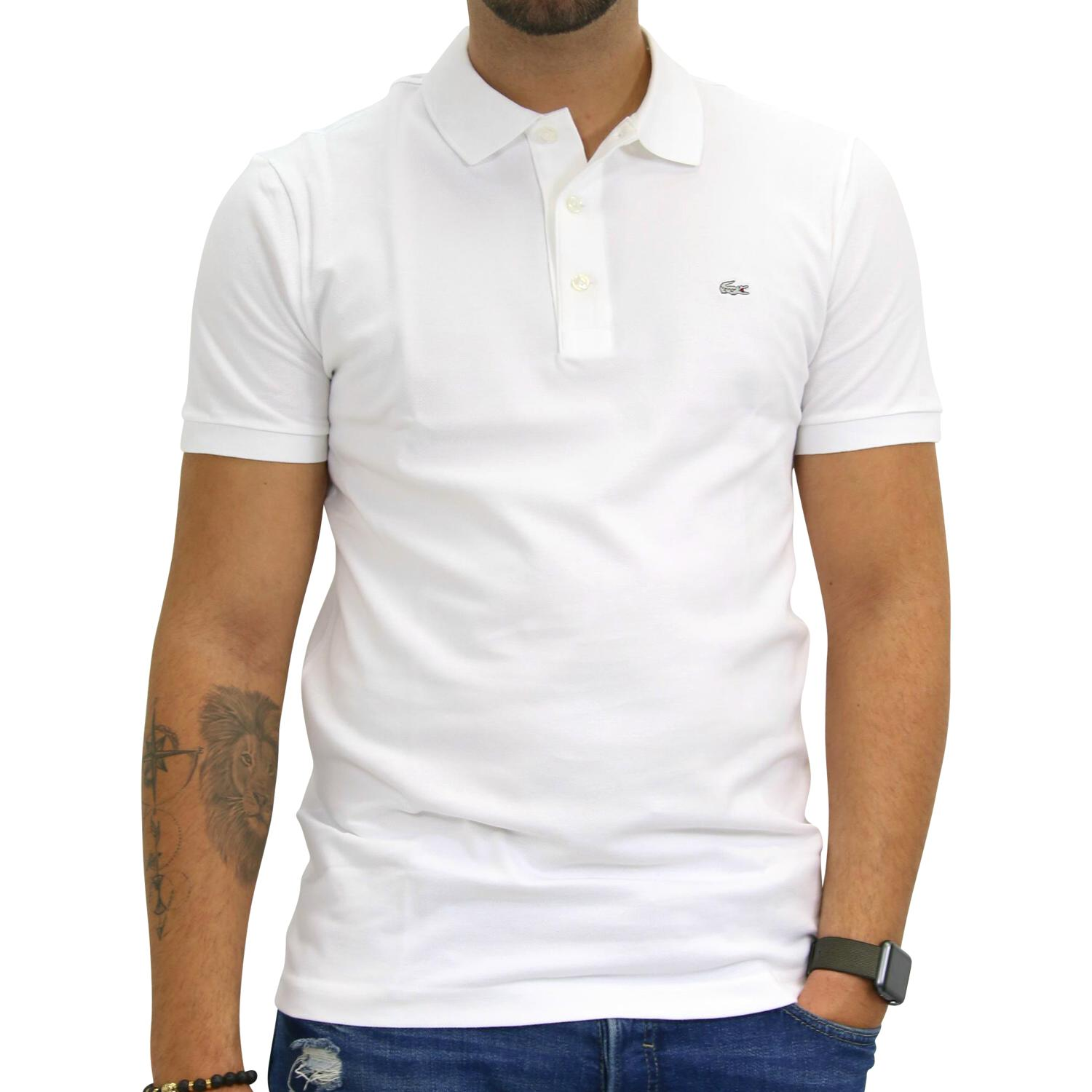 lacoste polo slim fit stretch poloshirt polohemd t shirt kurzarm herren ph4014 ebay. Black Bedroom Furniture Sets. Home Design Ideas