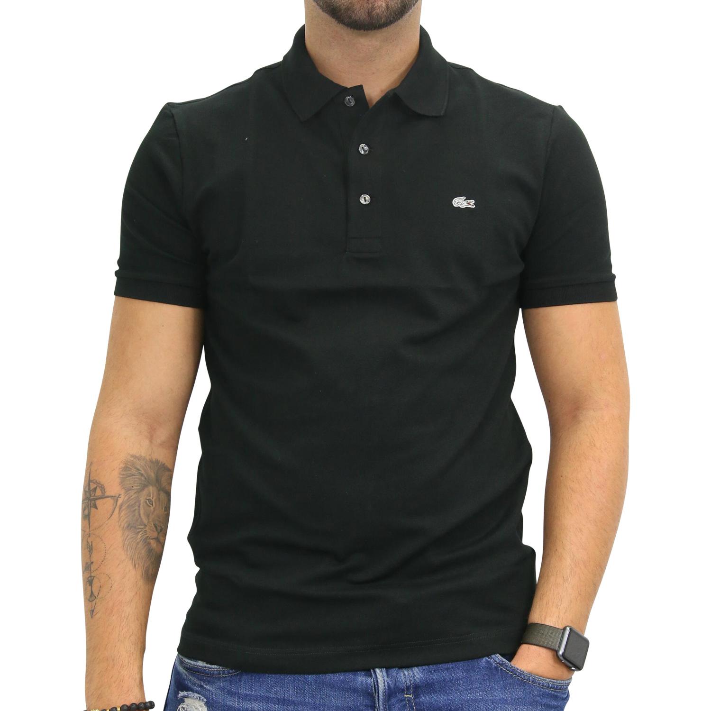 Lacoste polo slim fit stretch poloshirt polohemd t shirt kurzarm herren ph4014 ebay - Lacoste poloshirt weiay ...