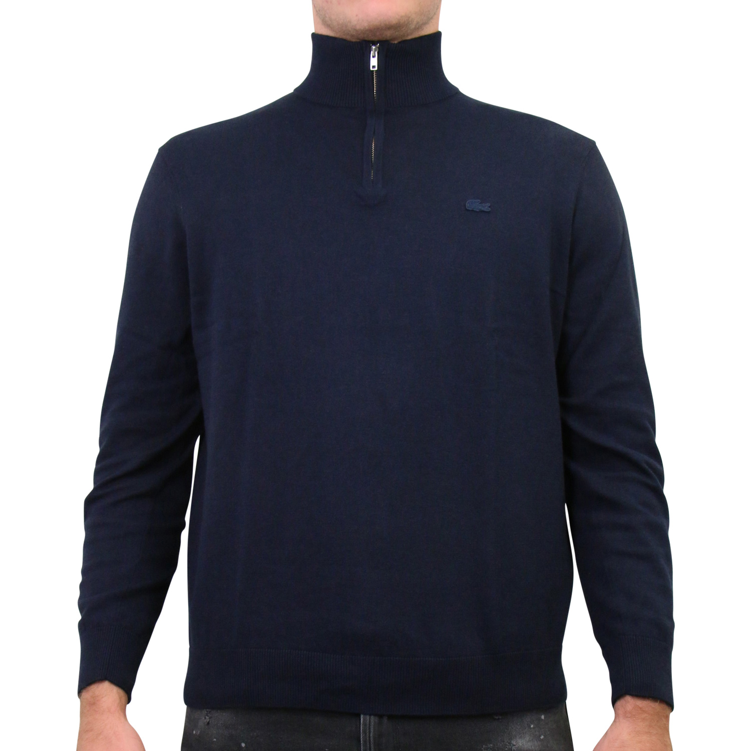 lacoste herren pullover sweatshirt pulli dunkelblau ebay. Black Bedroom Furniture Sets. Home Design Ideas