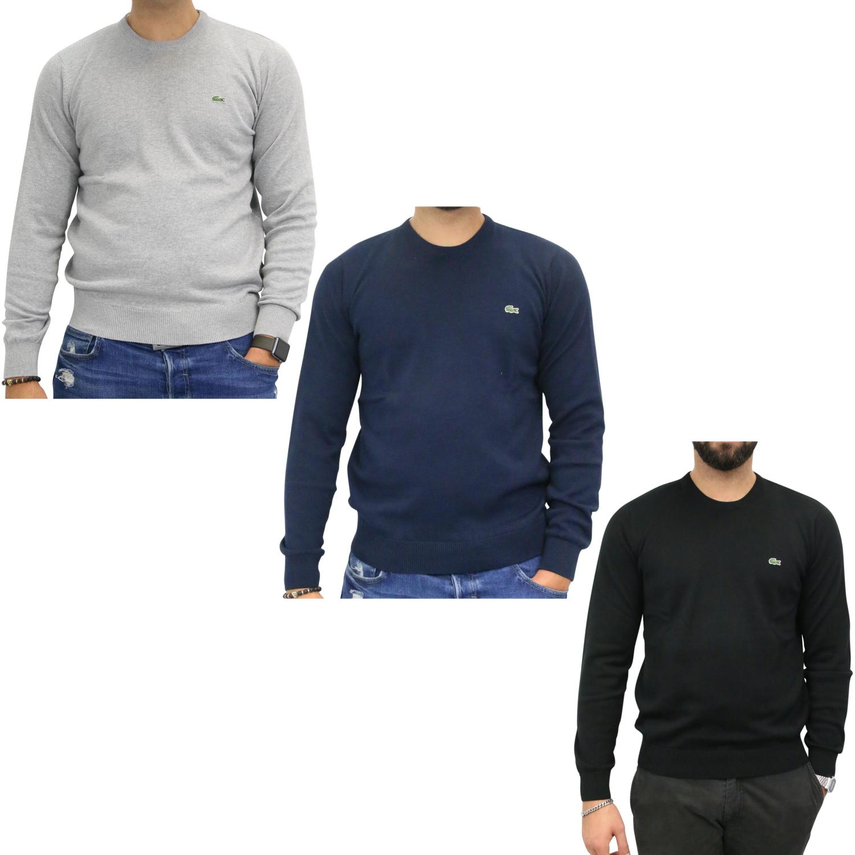lacoste rundhals pullover strickpullover shirt feinstrick. Black Bedroom Furniture Sets. Home Design Ideas
