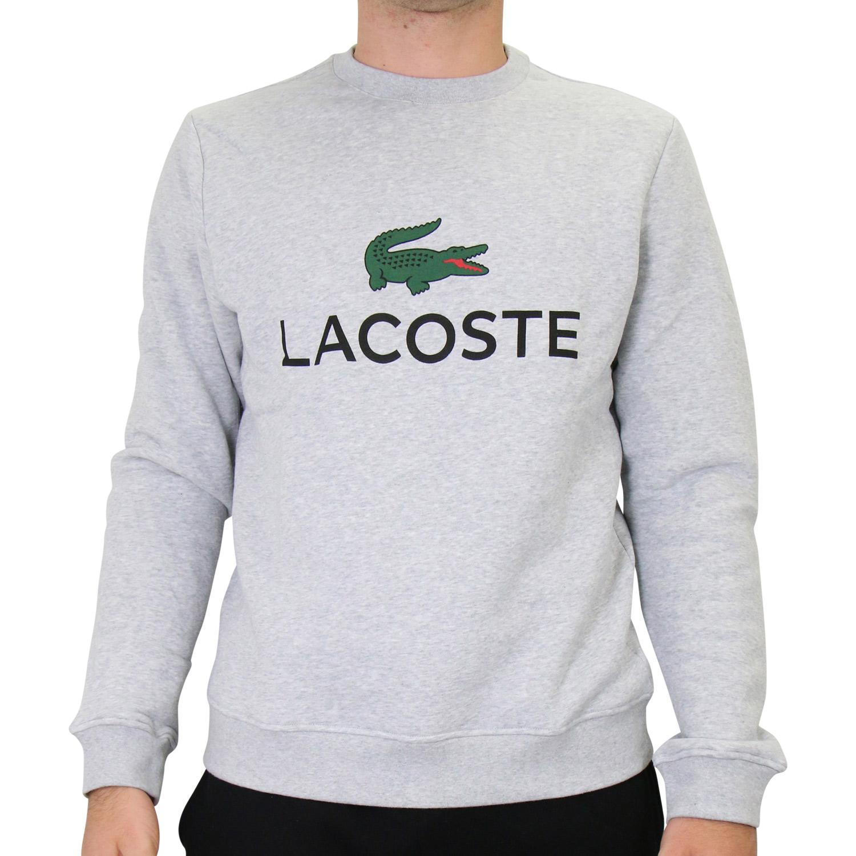 size 40 a60cc 243ec Details zu Lacoste Rundhalspullover Pullover Pulli Sweatshirt Herren SH0605  CCA Grau
