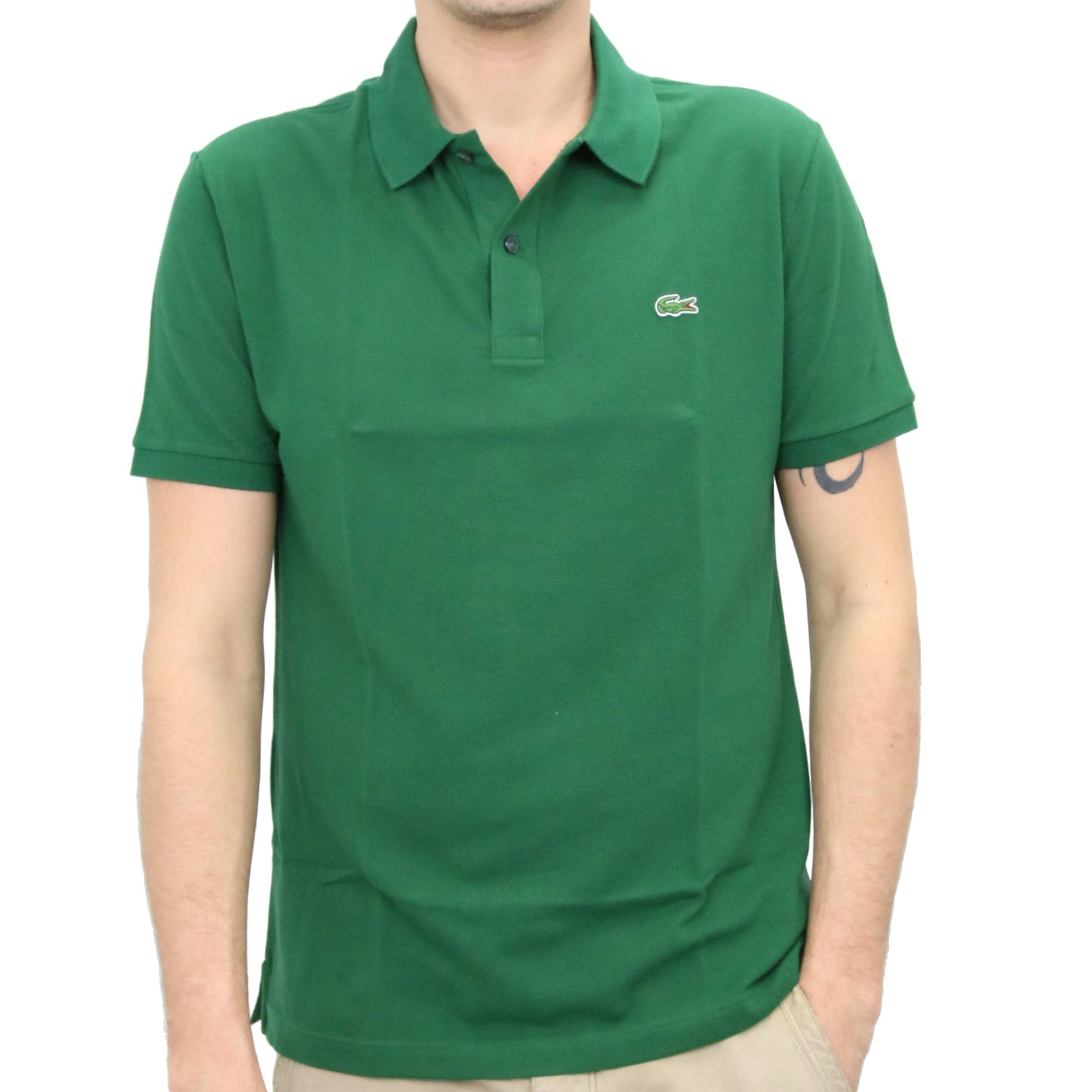 Lacoste slim fit polo poloshirt polohemd t shirt kurzarm for Lacoste polo shirts ebay