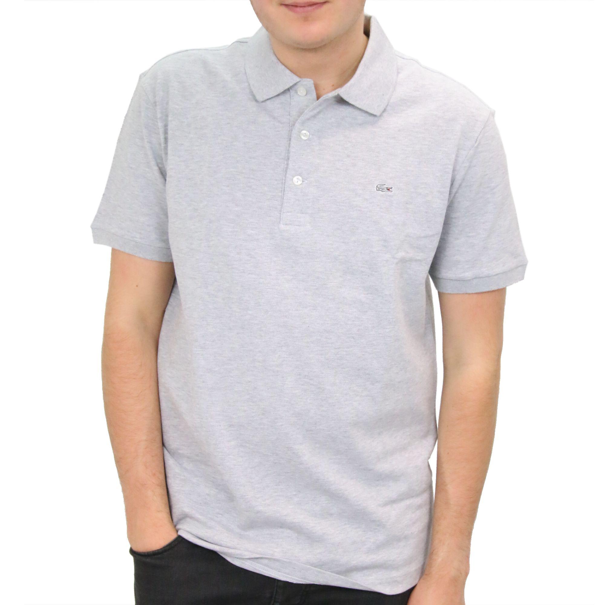 super popular b9b56 dc8eb Details zu Lacoste Polo Slim Fit Poloshirt Polohemd T-Shirt Kurzarm Herren  PH4014 CCA Grau