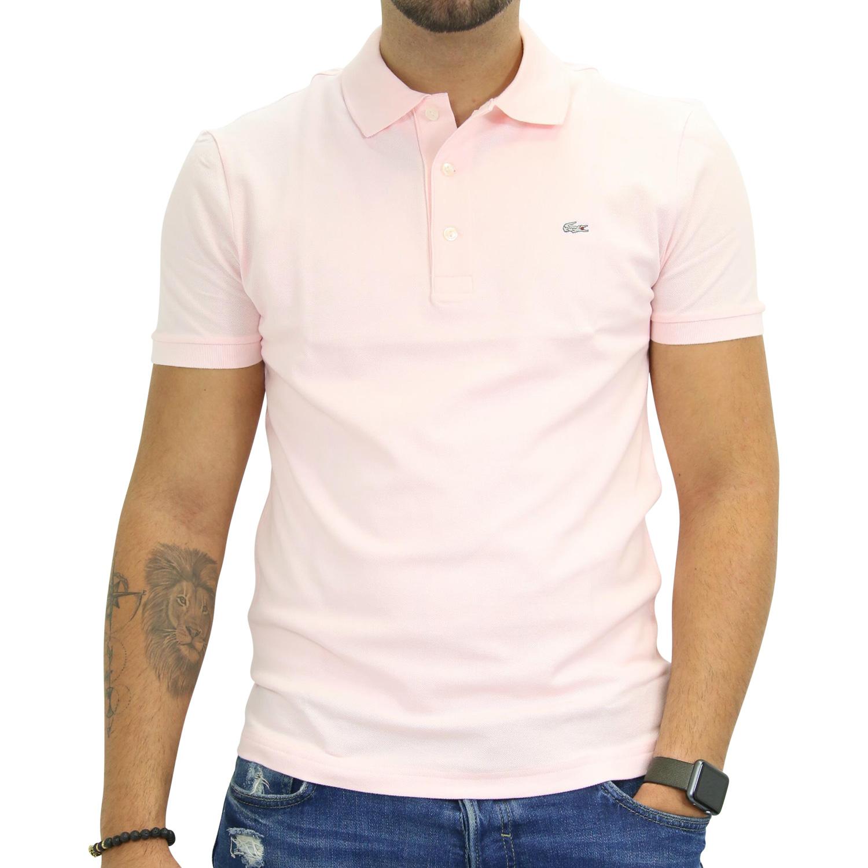67d1b383256a Lacoste Polo Slim Fit Stretch Poloshirt Polohemd T-Shirt Kurzarm ...