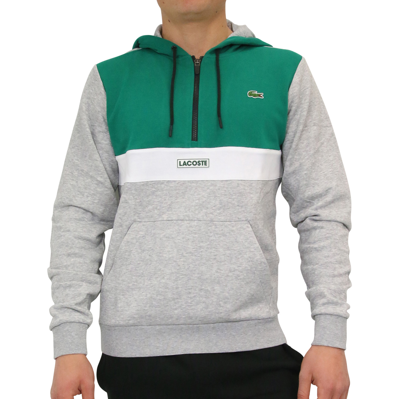 d510d8c019bbba Lacoste Sport Sweatshirt Kapuze Hoodie Pullover Herren Grau Grün ...