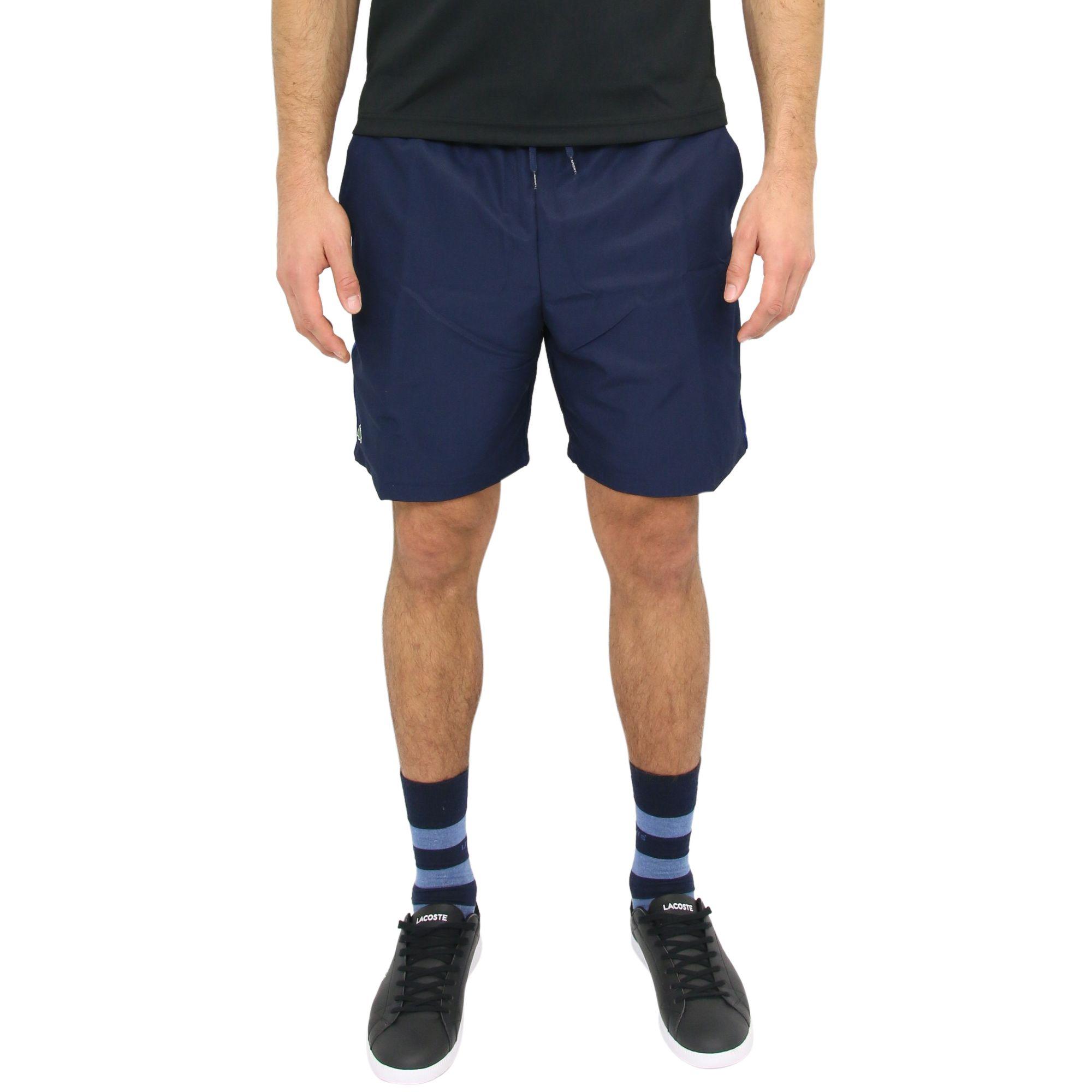 lacoste sport shorts hose tennishose sporthose kurze hose herren dunkelblau ebay. Black Bedroom Furniture Sets. Home Design Ideas