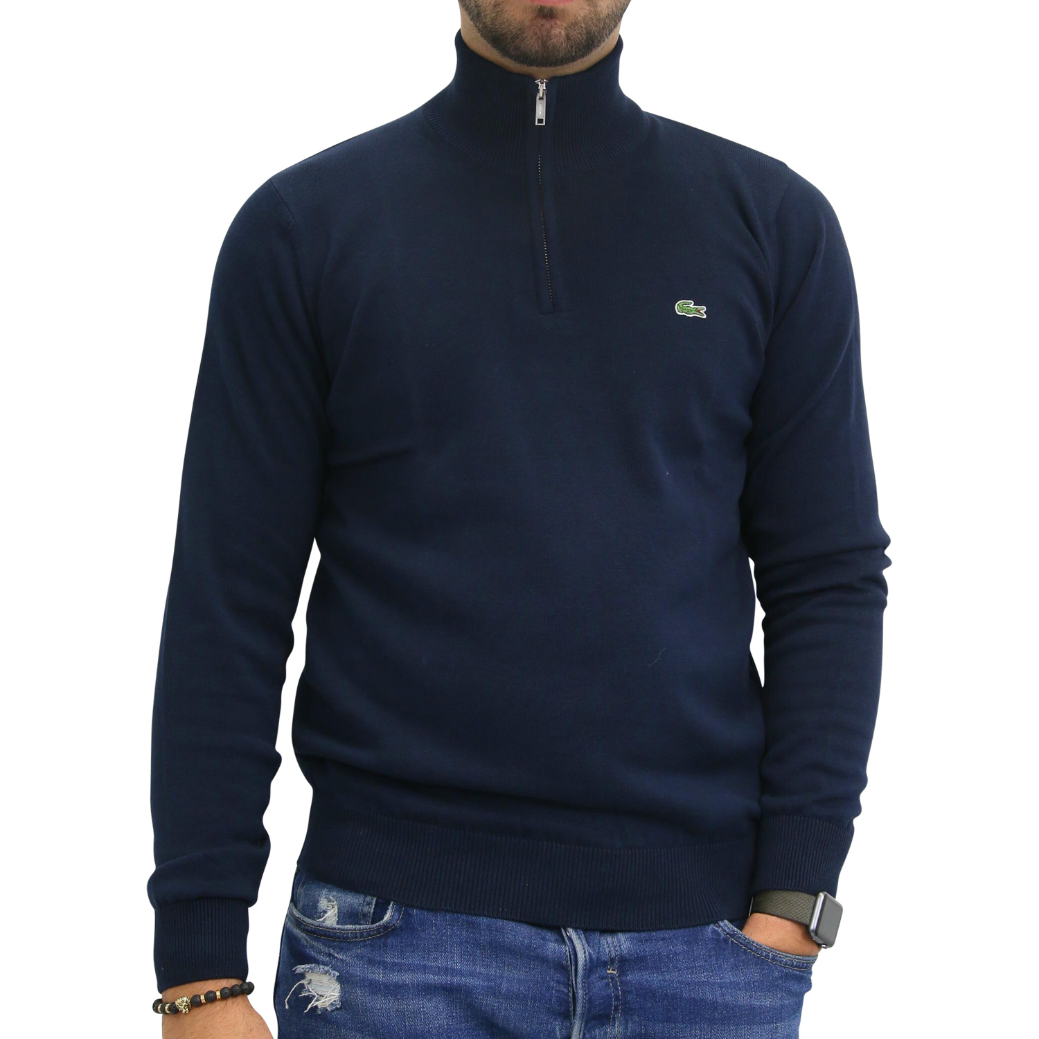 lacoste pullover 1 2 zip strickpullover troyer stehkragen. Black Bedroom Furniture Sets. Home Design Ideas