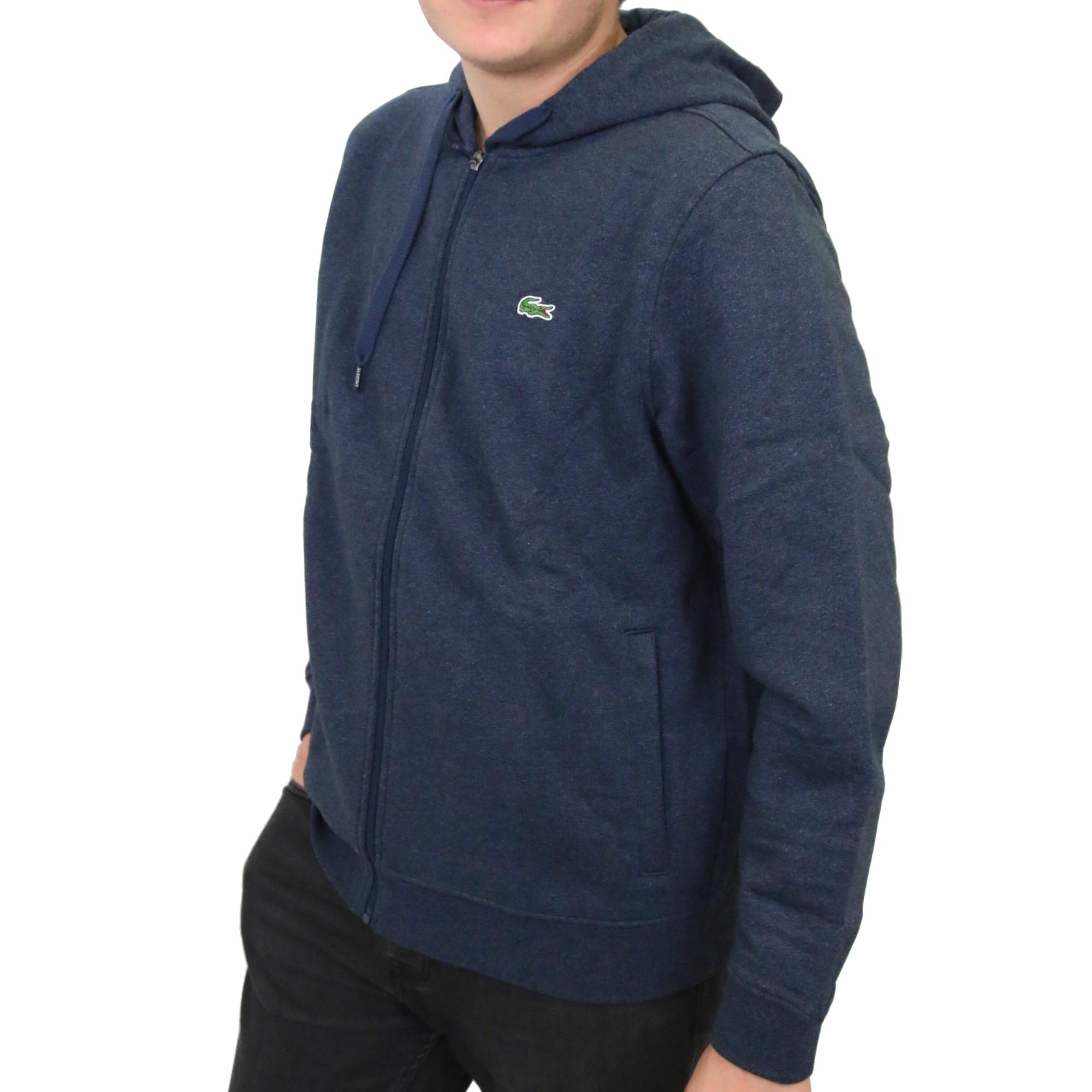lacoste kapuzen sweatshirt jacke kapuzenjacke hoodie sweatshirtjacke herren ebay. Black Bedroom Furniture Sets. Home Design Ideas