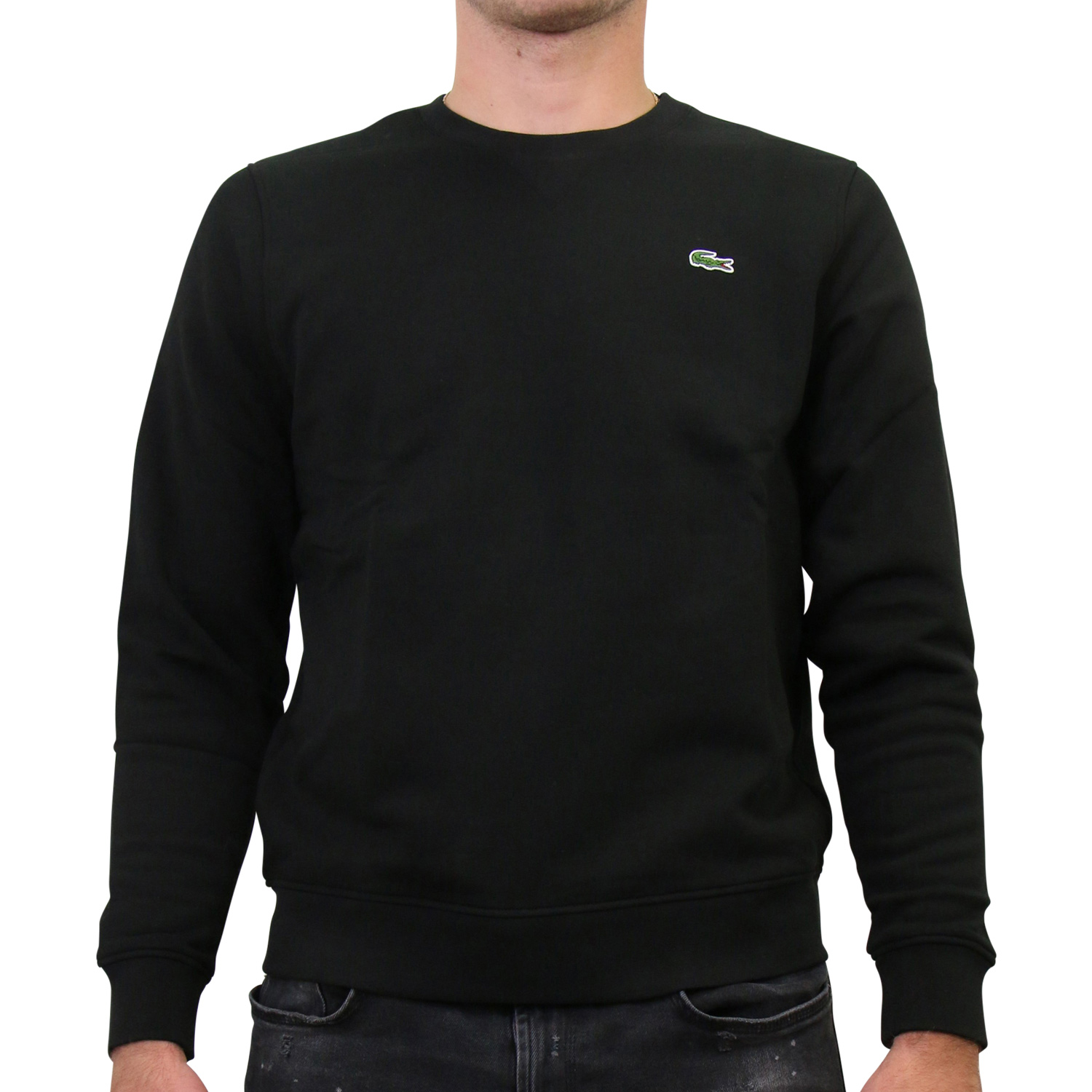 lacoste sweatshirt pullover rundhals baumwolle herren. Black Bedroom Furniture Sets. Home Design Ideas