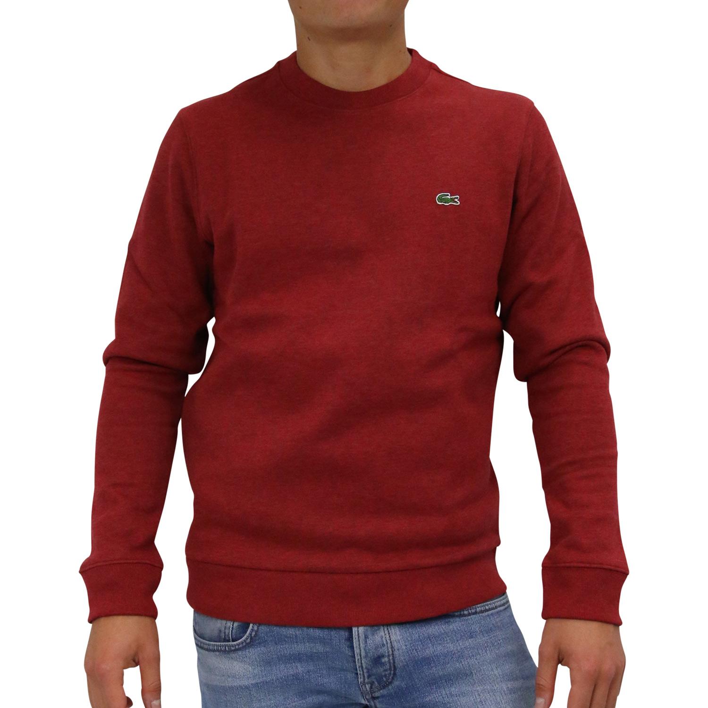 Lacoste Sweatshirt Shirt Pullover Pulli Herren SH9203 BZ7 Rot   eBay dd63323de0