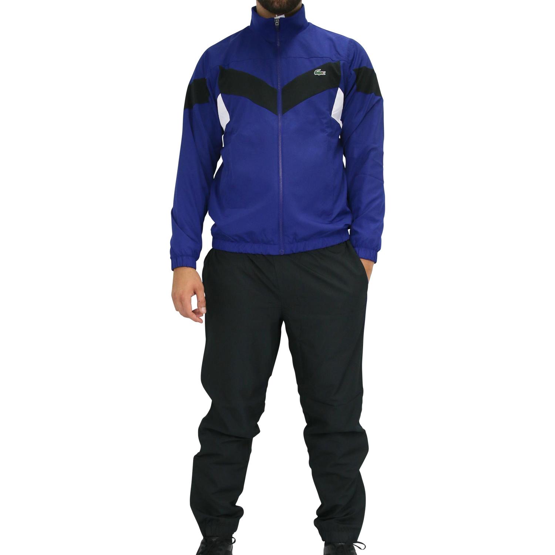buy online 71c9a 2a2c2 Details zu Lacoste Trainingsanzug Sportanzug Jogginganzug Fitness Tennis  Sport Herren Blau