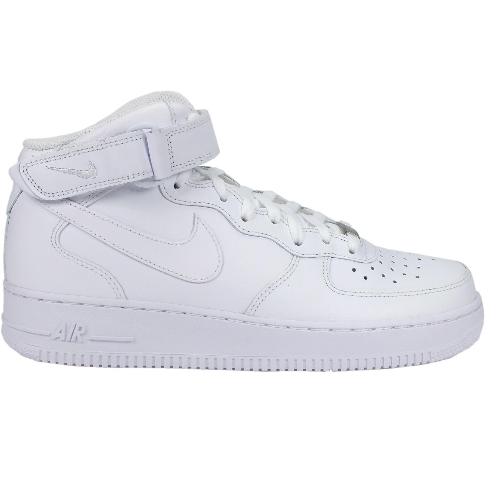 Détails sur Nike Air Force 1 MID 07 Chaussures Sneaker High top homme 315123 111 Blanc afficher le titre d'origine
