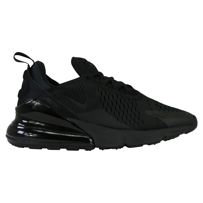 Details zu Nike Air Max 270 (GS) Sneaker Damen Kinder Gr 37,5-40  Schwarz/Schwarz BQ5776 001