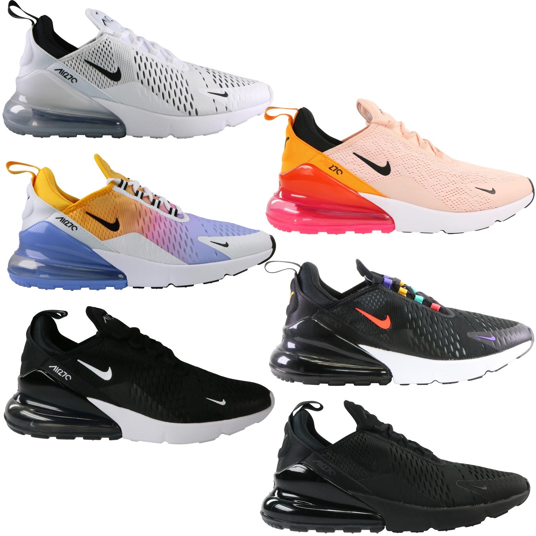 Nike Air Max 270 airmax FLORAL Laufschuhe für Frauen Männer Schuhe SE Triple Schwarz Weiß RAINBOW HEEL Herren Trainer Sport Sneakers 36 45