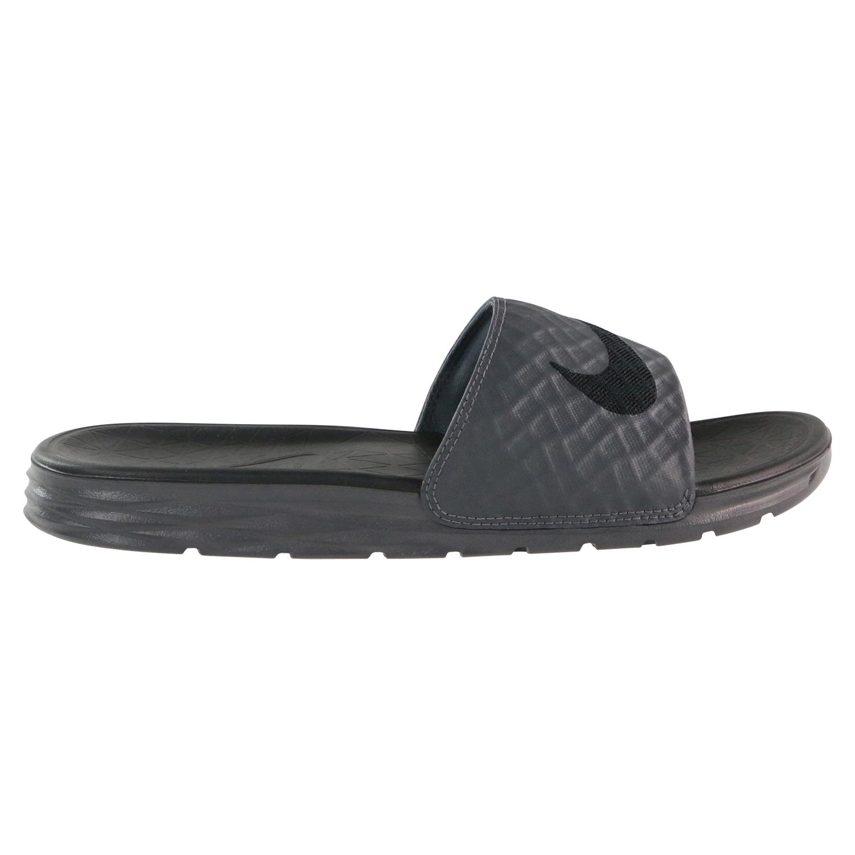 Details zu Nike Benassi Solarsoft 2 Badeslipper Badelatschen Herren Dunkelgrau 705474 090