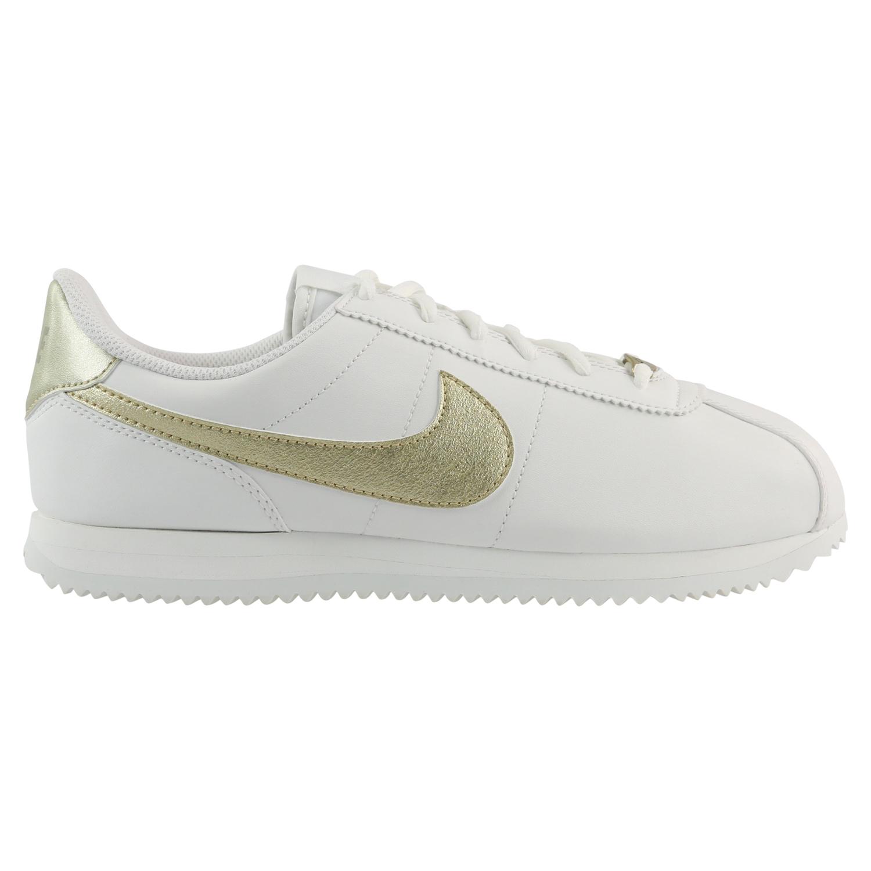 d0be27a97c6b Nike Cortez Basic SL (GS) Sneaker Schuhe Mädchen Damen Weiß Gold ...