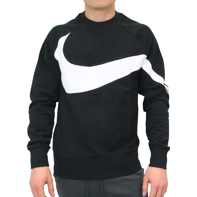 66ef3c3c6dc7bf Nike Crew Big Swosh Sweatshirt Herren Pullover Pulli Sweater Schwarz ...