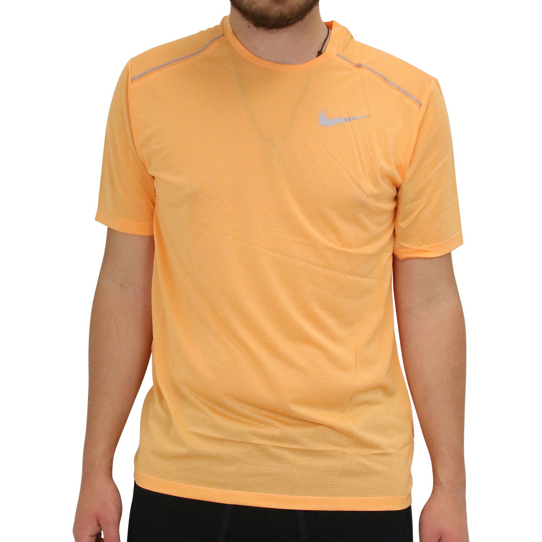 Details zu Nike Dri FIT Miler Kurzarm Sportshirt Laufshirt Running Fitness Herren Orange