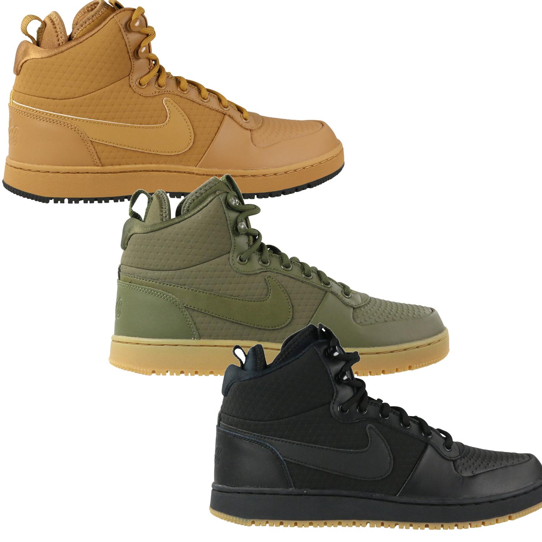 Nike Ebernon MID Winter Herren Sneaker Freizeitschuhe AQ8754 001 schwarz