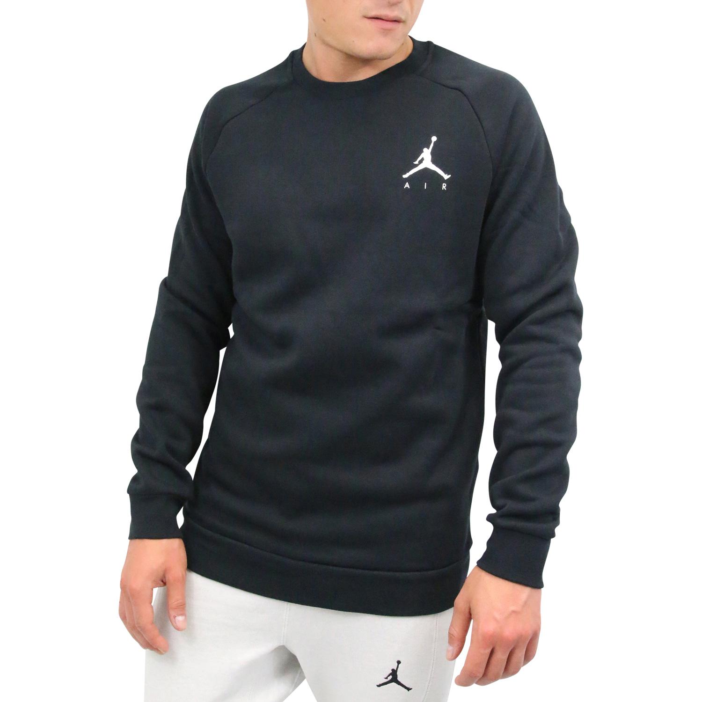33954485239230 Nike Jordan Jumpman Air Fleece-Rundhalsshirt Pullover Herren Schwarz ...