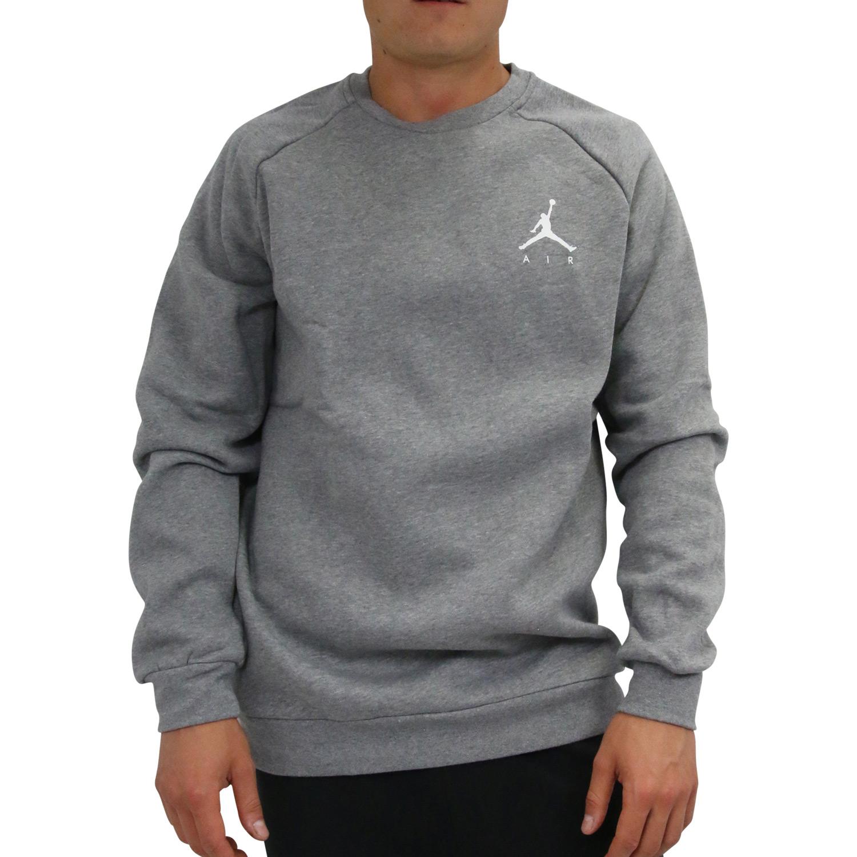 a932ad31505521 Nike Jordan Jumpman Air Fleece-Rundhalsshirt Herren Pullover Grau ...