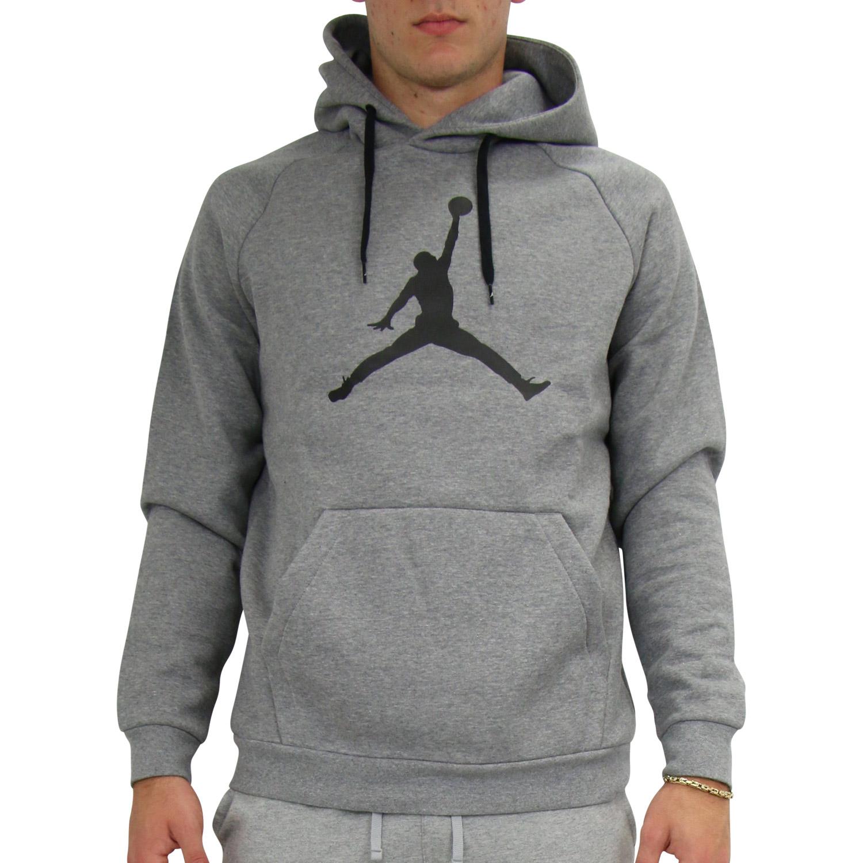 Details zu Nike Jordan Jumpman Logo Hoodie Kapuzenpullover Pulli Herren Grau AV3145 091