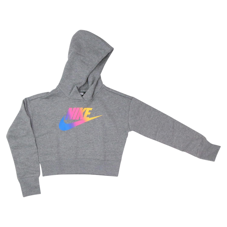 Details zu Nike Sportswear (GS) Hoodie Grau Damenbekleidung CJ6937 091